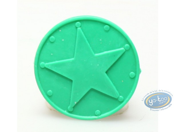 Figurine plastique, Astérix : Mini Pavois (vert foncé)