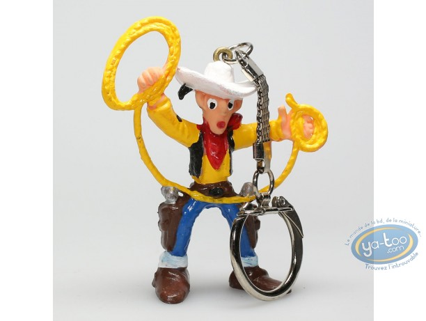 Figurine plastique, Lucky Luke : Porte-clé Lucky Luke lasso en l'air