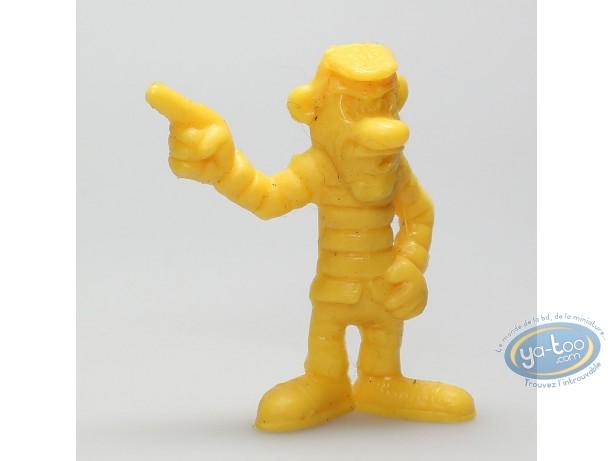 Figurine plastique, Lucky Luke : Joe Dalton doigt pointé (jaune)