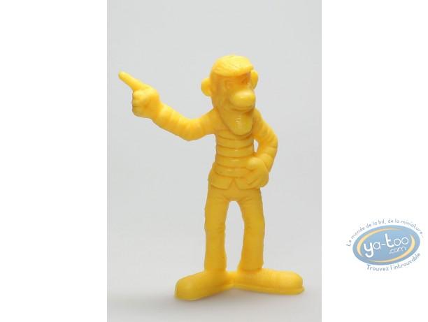 Figurine plastique, Lucky Luke : Averell Dalton doigt pointé (jaune)