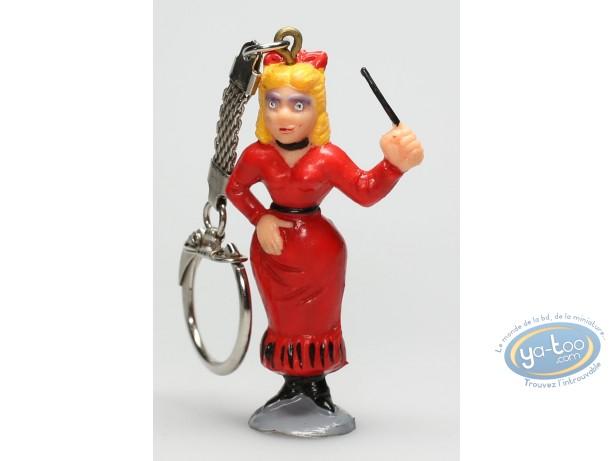 Figurine plastique, Lucky Luke : Porte-clé Institutrice