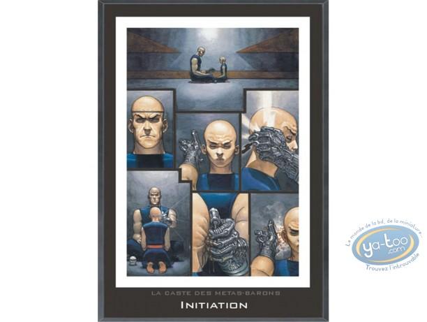 Affiche Offset, Caste des Métas-Barons (La) : Cadre en bois, Initiation