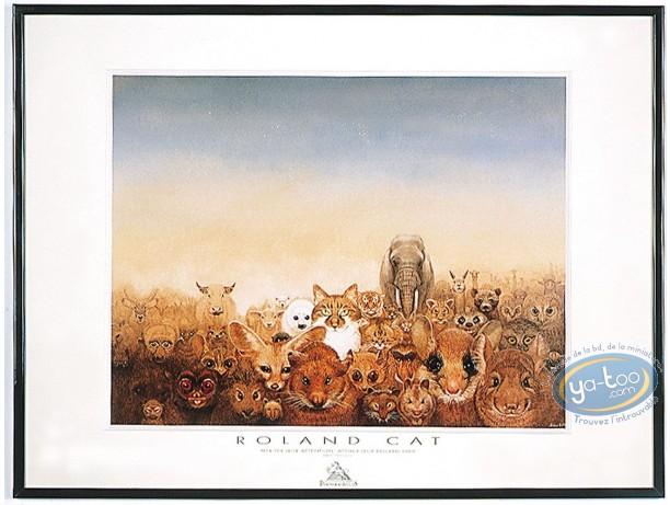 Affiche Offset, Roland Cat : Animaux