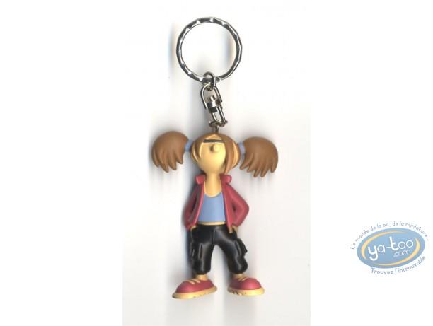Figurine plastique, Lili Varicelle : Porte-clef Lili Varicelle pantalon noir