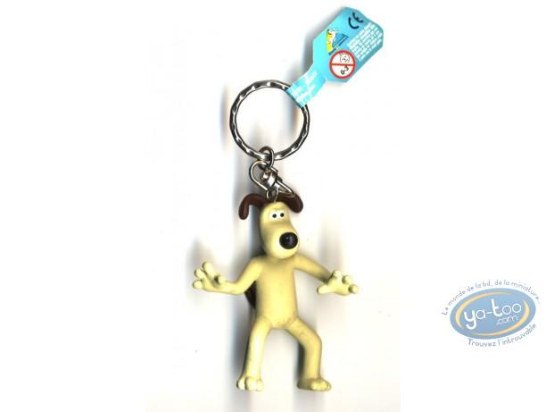 Figurine plastique, Wallace et Gromit : Porte-clef Gromit
