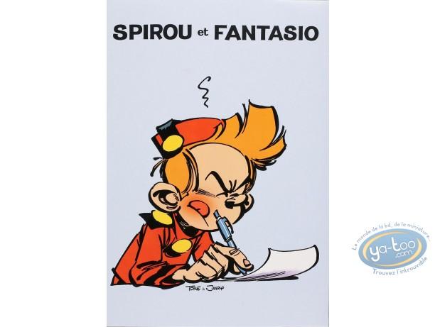 Fourniture bureau, Spirou et Fantasio : Papier à lettres + enveloppes Spirou : Bleu