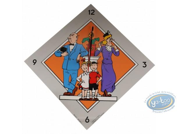 Horlogerie, Bob et Bobette : Horloge, Bob et Bobette (grise)