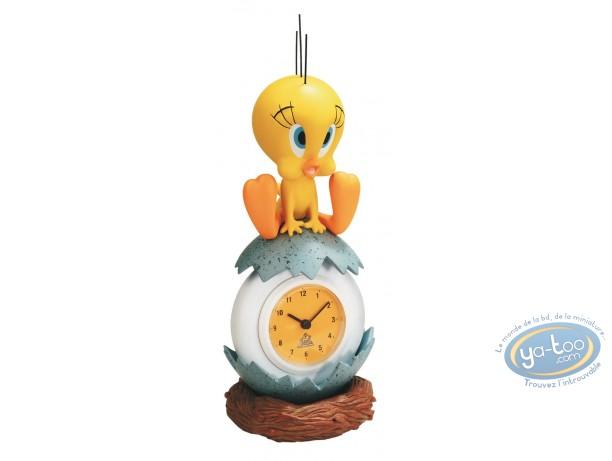 Statuette résine, Titi : Horloge 3D Titi