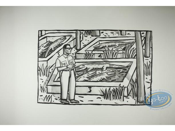 Affiche Offset, Loustal : Le bassin aux crocodiles