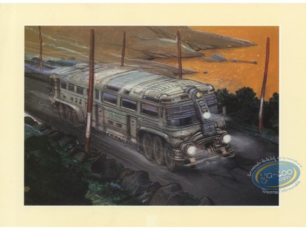 Ex-libris Offset, Nikopol : Bilal, camion (petit)