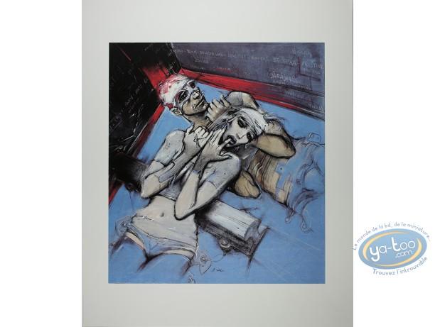 Affiche Sérigraphie, Bilal : Bilal, Le Rail (non signé)