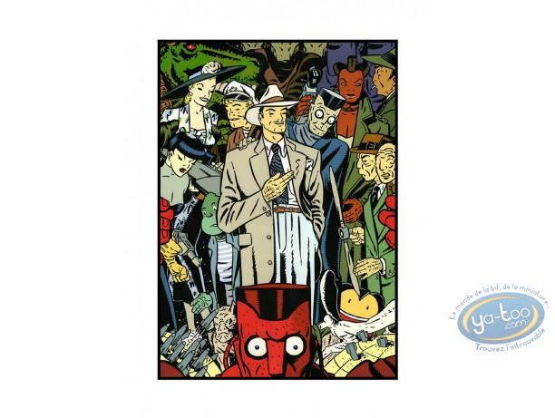 Affiche Sérigraphie, Rocco vargas : Galerie de personnages
