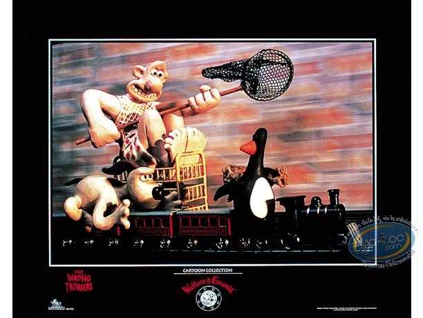 Affiche Offset, Wallace et Gromit : Le train