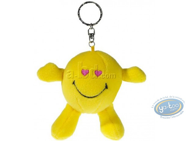 Porte-clé, Smiley : Peluche Smiley coeur
