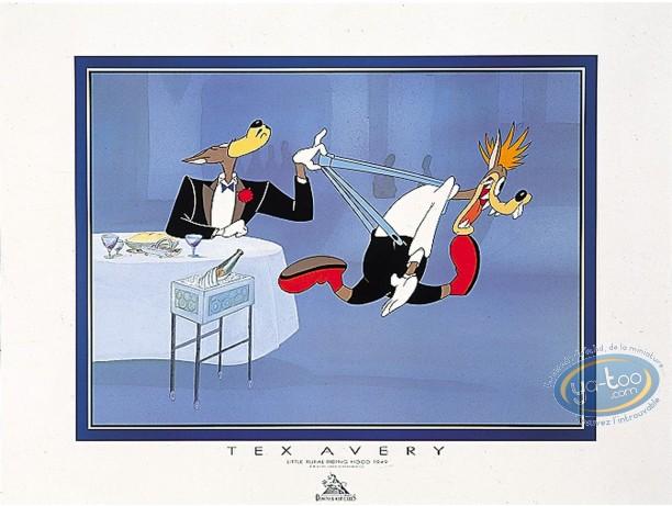 Affiche Offset, Droopy : Le Loup au restaurant