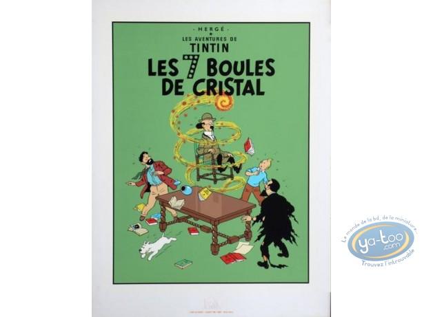 Affiche Sérigraphie, Tintin : Les 7 Boules de Cristal