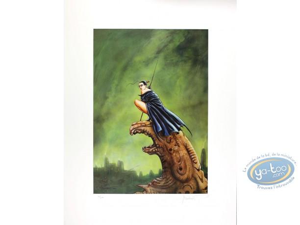 Affiche Offset, Jaguar : Femme sur Gargouille