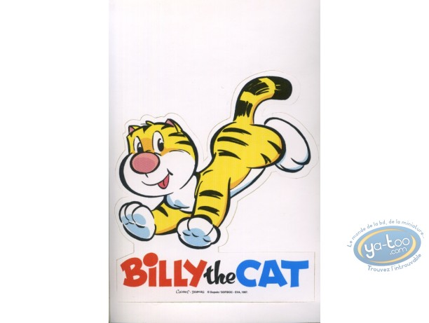 Autocollant, Billy the Cat : Sticker autocollant Billy the Cat