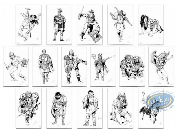Ex-libris Offset, Vae Victis : Set de 16 dessins