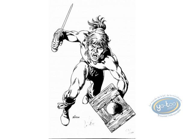Ex-libris Offset, Vae Victis : Guerrier avec épée et bouclier