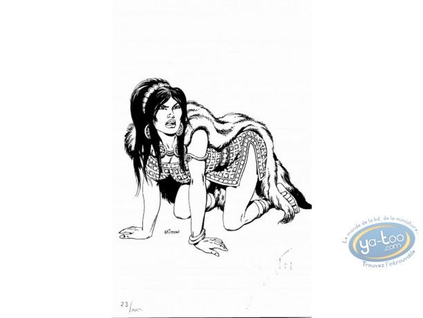 Ex-libris Offset, Vae Victis : Femme à 4 pattes