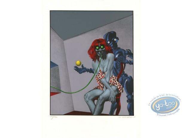 Lithographie, Femme et Robot