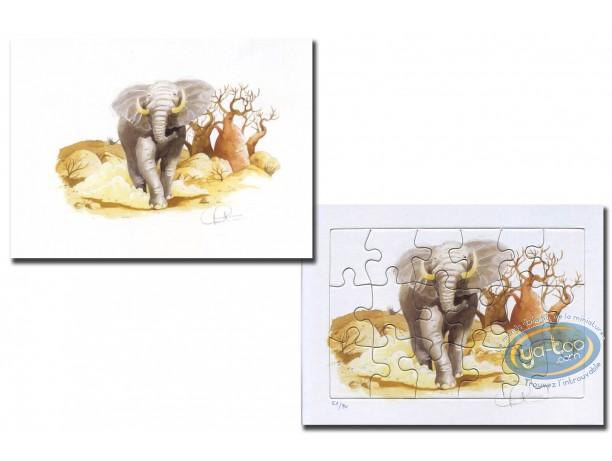 Ex-libris Offset, L'élephant (Puzzle)