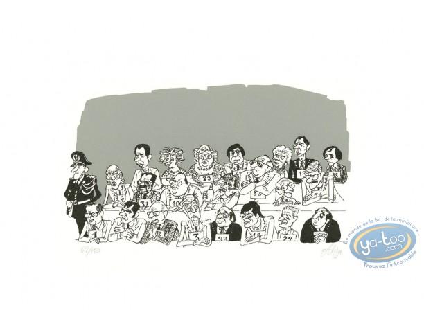 Affiche Sérigraphie, Alidor : Alidor : Jury (variante)