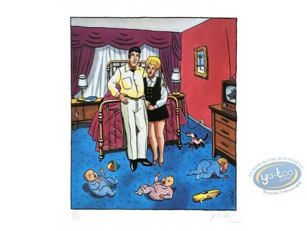 Affiche Sérigraphie, Un couple modèle