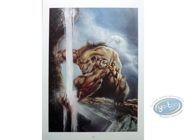 Affiche Offset, Garous : Loup garou et prêtresse