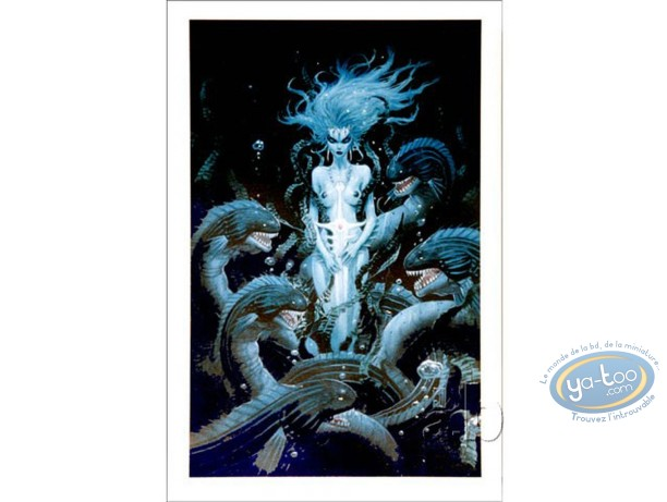 Affiche Offset, Femme aux serpents