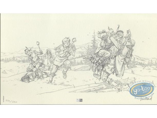 Ex-libris Offset, Plume aux Vents : Combat dans la neige