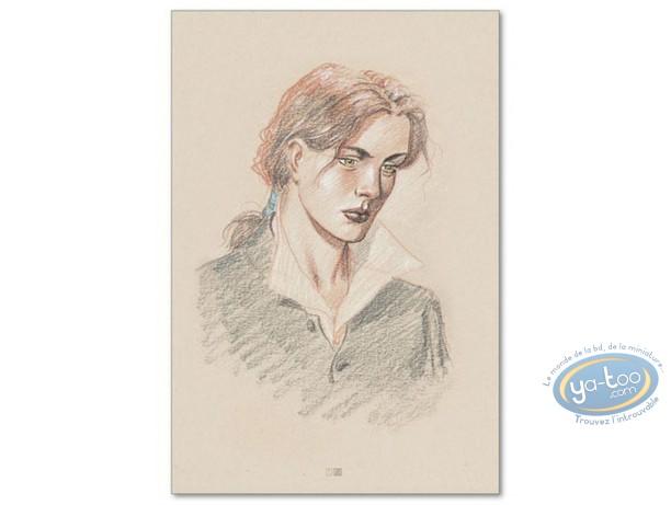 Affiche Offset, Plume aux Vents : Ariane de Troïl portrait beige