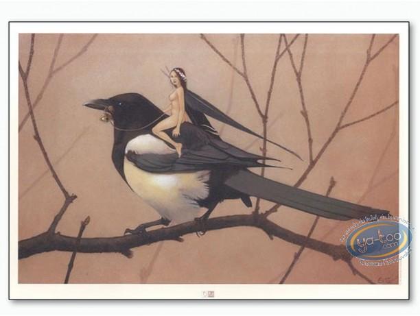 Affiche Offset, Féerie : Fée sur oiseau
