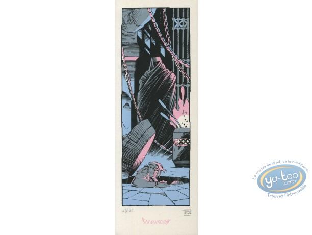 Ex-libris Sérigraphie, Aquablue : Salle de torture