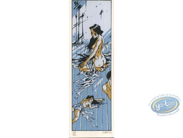 Marque-page sérigraphie, Geisha