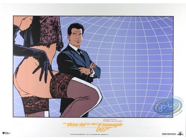 Affiche Sérigraphie, James Bond : Le monde ne suffit pas (version mauve)