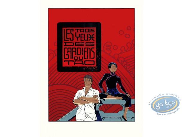 Affiche Sérigraphie, Largo Winch : Les 3 yeux des gardiens du Tao