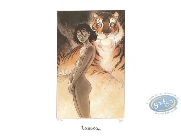 Affiche Offset, Zoo : Manon et le tigre