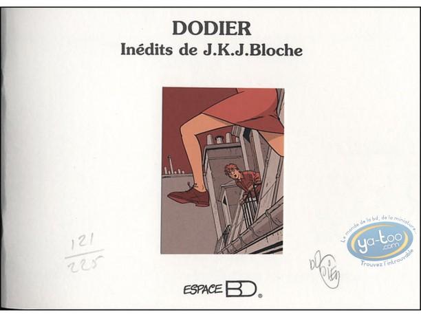 Carnet de croquis, Jérome K Bloche : JKJ Bloche