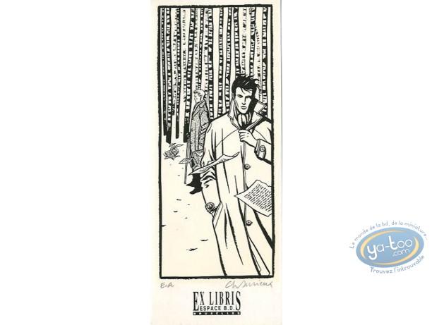 Ex-libris Sérigraphie, Avel : Feuilles volantes