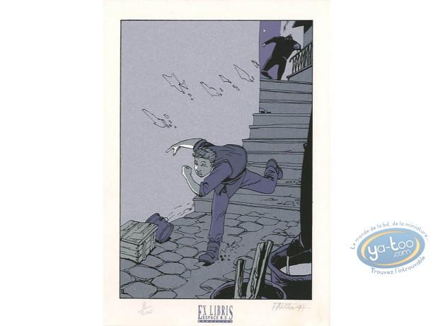 Ex-libris Sérigraphie, Fond du Monde (Le) : La course