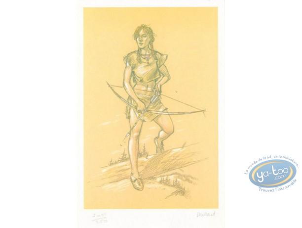 Ex-libris Offset, Plume aux Vents : Ariane avec un arc