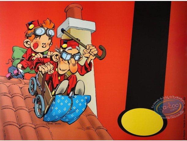 Affiche Offset, Petit Spirou (Le) : Papy sur le toit