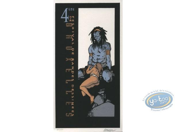 Ex-libris Sérigraphie, Terres d'Ombre : Géant bleu