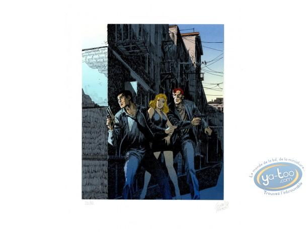 Affiche Sérigraphie, Bob Morane : La ruelle