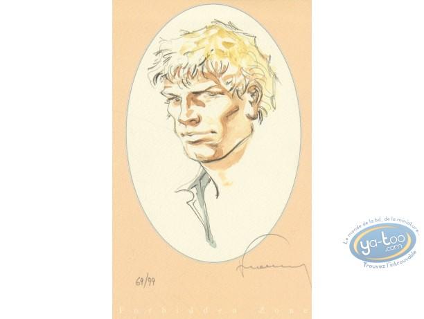 Ex-libris Offset, Jérémiah : Portrait (rose)