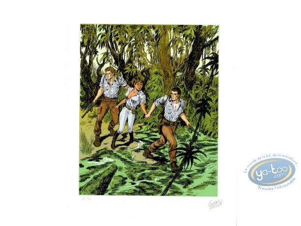 Affiche Sérigraphie, Bob Morane : La jungle