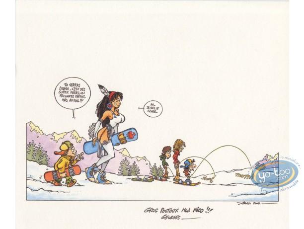 Ex-libris Offset, Luuna : À la neige