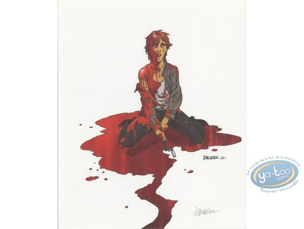 Ex-libris Offset, Volunteer : Femme ensanglantée